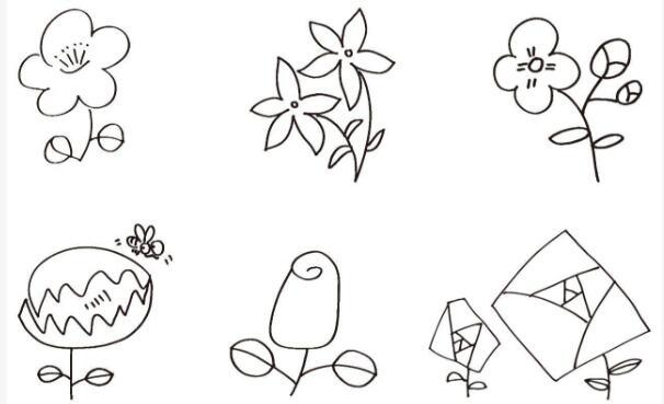 花朵简笔画简单又好看,一起来画画吧.