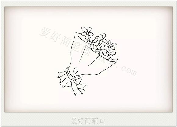 简单的一束鲜花简笔画画法教程