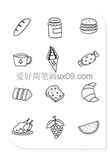 食物简笔画图片大全