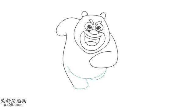 熊大小时候怎么画_熊大小时候简笔画
