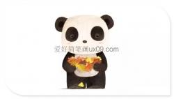 萌萌哒小熊猫简笔画