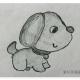 可爱小狗简笔画