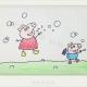 小猪佩奇乔治玩耍的简笔画画法教程