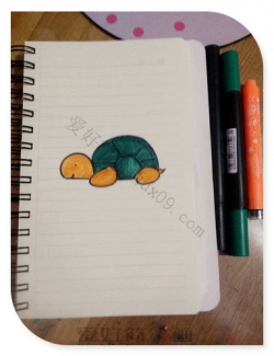 乌龟怎么画简笔画图片