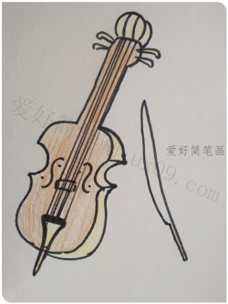 怎么画大提琴