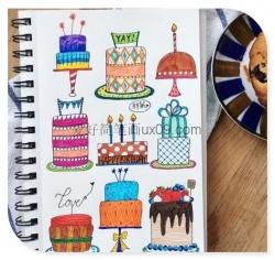 好看彩色的蛋糕简笔画