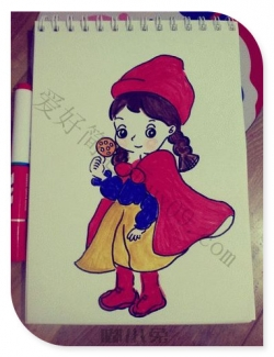 女孩公主简笔画漂亮可爱