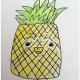 儿童涂色菠萝怎么画带步骤