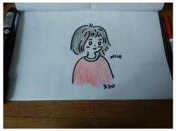 短发女孩简笔画教程