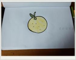 橙子怎么画简笔画