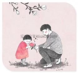 父亲对女儿的爱简笔画