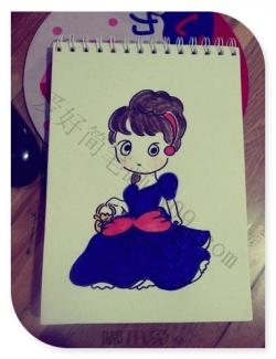 呆萌的小公主简笔画