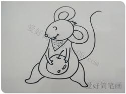 可爱的卡通小老鼠画法