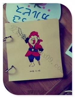 小海盗简笔画