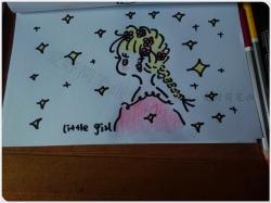 可爱女孩侧面画法教程图片