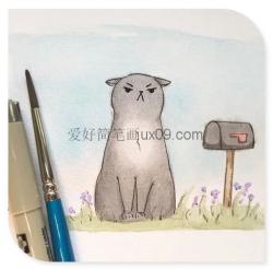 可爱小猫咪卖萌简笔画
