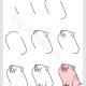 小猪简笔画教程简单又可爱