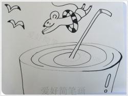 一步一步教你画可爱的卡通老鼠简笔画