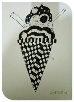 漂亮的冰激凌简笔画图片
