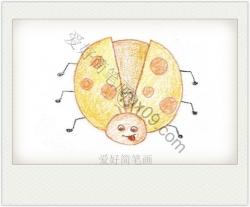 可爱的七星瓢虫简笔画带颜色