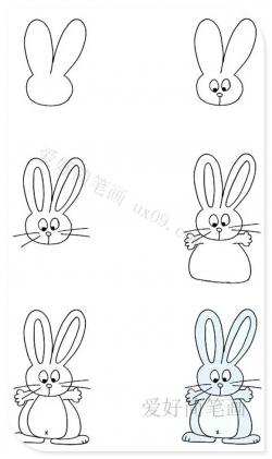 怎样画兔子