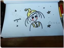 女孩简笔画简单又漂亮教程