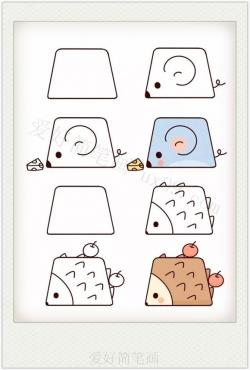 创意的可爱梯形画小动物教程大全