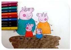 啥是佩奇,小猪佩奇全配齐简笔画教程