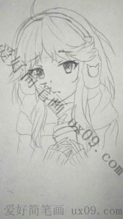 动漫女孩简笔画画法分享