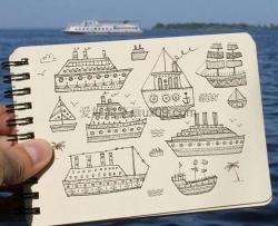 轮船简笔画图片大全