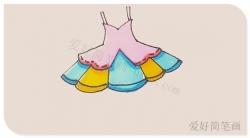 简单的连衣裙简笔画怎么画