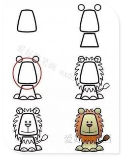 狮子简笔画教程图片