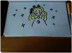 怎样画一个简笔画的小女孩