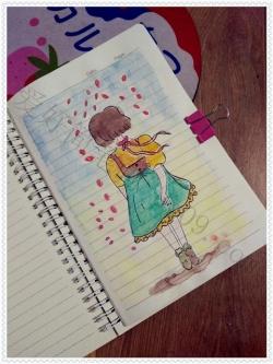 要漂亮的女孩的简笔画