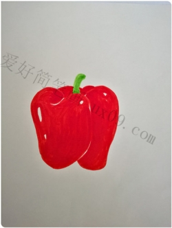 彩椒简笔画画法教程图片