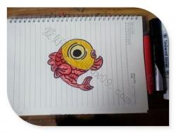 金鱼怎么画简单又好看
