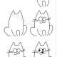 简单的小猫简笔画画法
