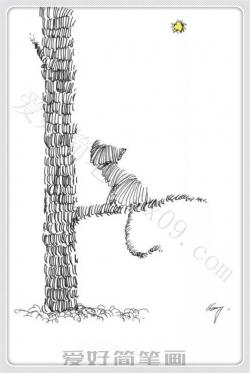 非常有创意的四幅小猫简笔画