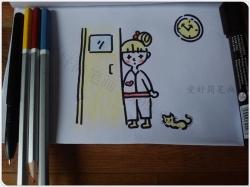 可爱小女生简笔画步骤图片