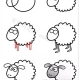 绵羊怎么画简笔画图片
