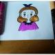 一步一步教你画漂亮的女孩简笔画