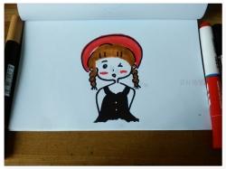女孩简笔画漂亮可爱简单简笔画步骤图