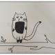 淘气的小猫咪简笔画的画法