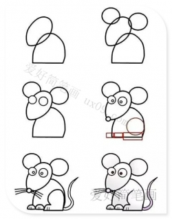 简单的小老鼠简笔画步骤