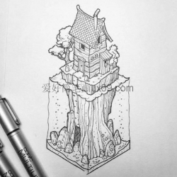3d画立体画铅笔图
