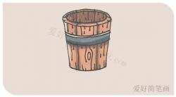 一步一步教你画木质足浴桶