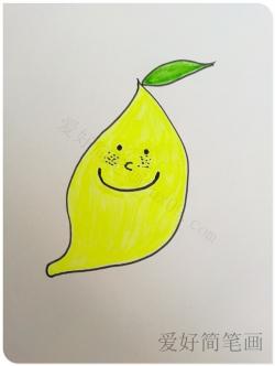 可爱的柠檬卡通简笔画画法