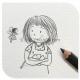 铅笔画女生简单可爱