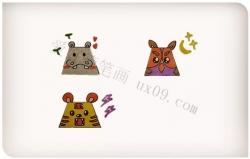 梯形画出可爱的小动物教程