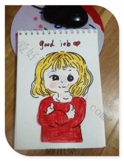 可爱的微胖女孩简笔画